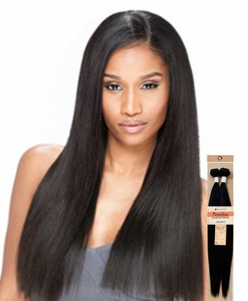 "100% Unprocessed Brazilian Virgin Remy Human Hair - NATURAL YAKI STRAIGHT 18\""- 45cm-50cm"