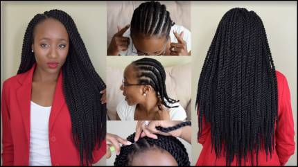 Crochet Braids- Senegalese Twist Small 18 inches (50cm)